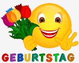 Smiley – Geburtstag Tulpen