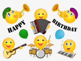 Smiley – happy birthday – music