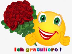 Smiley – Ich gratuliere