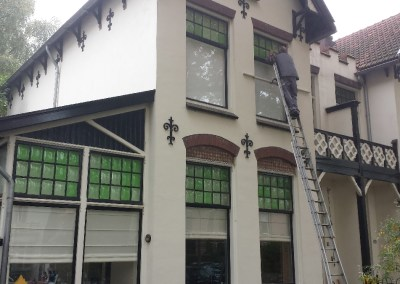 Renovatie glas woning Zeist
