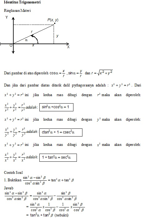 Contoh Soal Identitas Trigonometri : contoh, identitas, trigonometri, Identitas, Trigonometri, Roemahijau