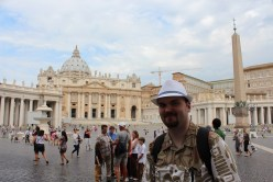 Our trip began in the Vatican. We got to see the St. Peter Basilica and the places where the Pope operates.