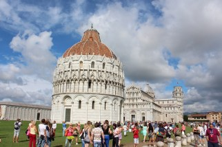Fast forward to Pisa. Here we have the cathedral and the tower.