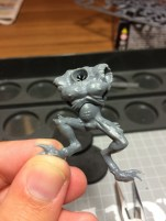 ... and finally one head and two eye sockets for one model. A total of 14 holes to use for bits.