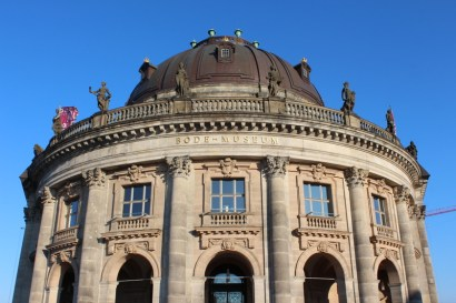 The trip begins with my wife arriving in the city center after landing in Schönefeld airport. This here is Bode Museum.