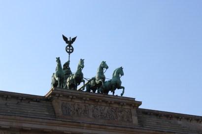 The chariot atop Brandenburger Tor.