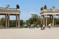 The back view of Palace Sanssouci.