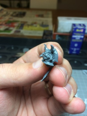 The gaps may also work as natural shading for the daemon and the armor.