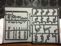 ... and their weapons and banners on another sprue.