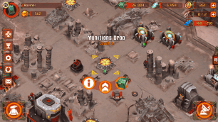 Munitions drops supply munitions and can be built in numbers as you advance in HQ levels. An additional source is the Tribute Monument that gets you additional munitions from conquered regions.
