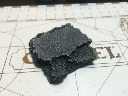 Primed black, drybrushed Eshin Grey (heavy), Dawnstone (medium) and Celestra Grey (light) for a dusty effect.