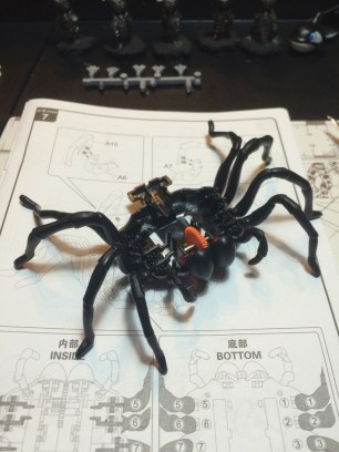 With legs assembled you have a proper spider!