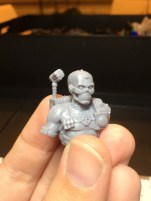 The Assassin has lots of cracks on the model - not sure if they are all sculpted yet. Need to check again before priming.