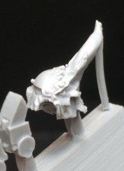 One side of the Dreadnought head has given way to a painful mutation. So much hatred in one simple piece.