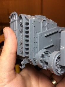 Here's an example of the larger joins I saved for later. This calls for some proper putty work.