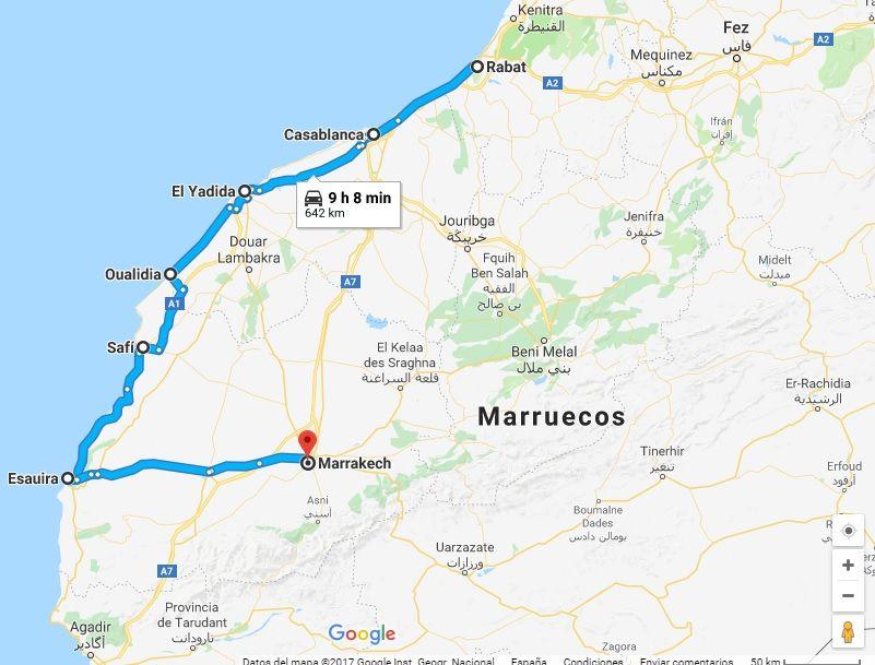 ruta por marruecos 8 días