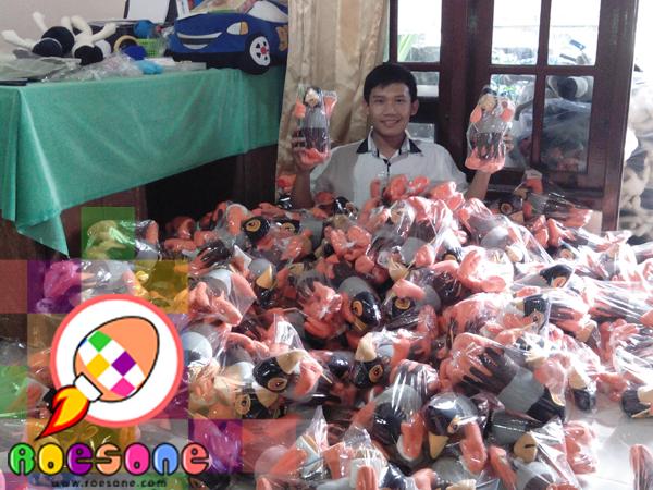 Boneka Maskot KPU Teluk Wondama Daerah Papua Irian Jaya