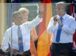 Barack-Obama- Angela-Merkel-Klaus-Wowereit