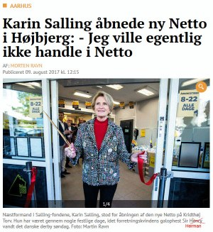 Fru Salling handler i Netto!