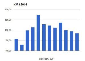 Årsresultat 1.484,10 km - svarende til: maratonløb a 42,195 = 35,17