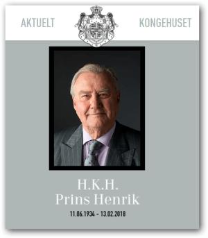 H.K.H. Prins Henrik 11.06.1934 - 13.02.2018