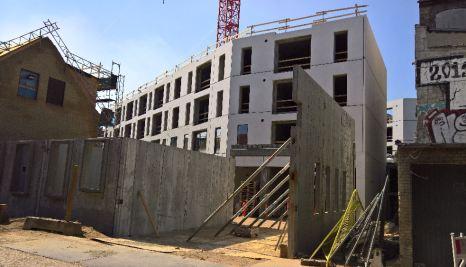 Borggade byggeriet set fra Paradisgade // lokalplan988_20170409