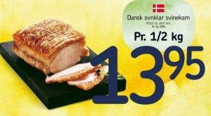 Dansk ovnklar svinekam - men den er jo allerede stegt!