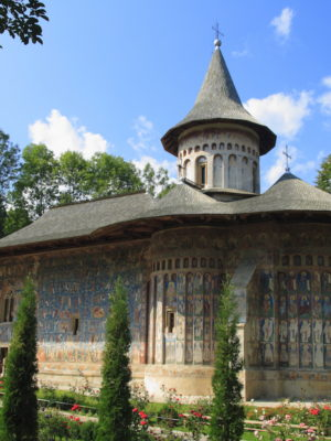 The Voronet Monastery is one of Romanian Orthodox monasteries in southern Bucovina