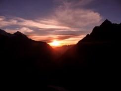 Mountainous sunset