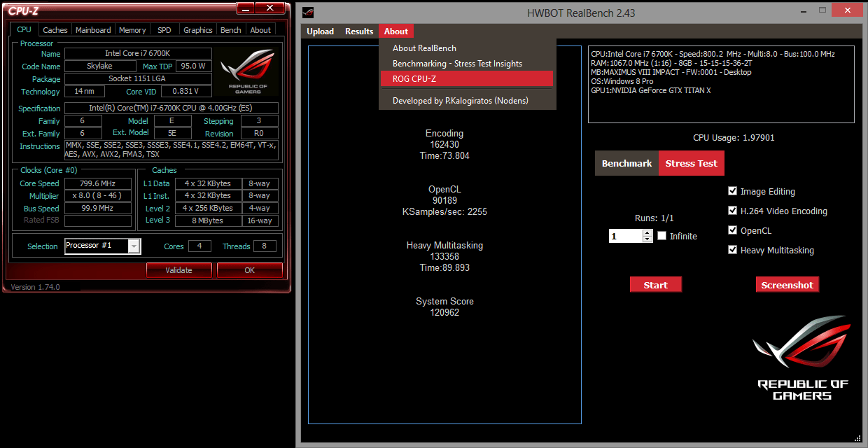Guide Realbench Hwbot Edition V2 43 Rog Republic Of