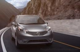 2013 Nissan Note (Versa Note in USA), three quarter running shot, studio shot, photo scene