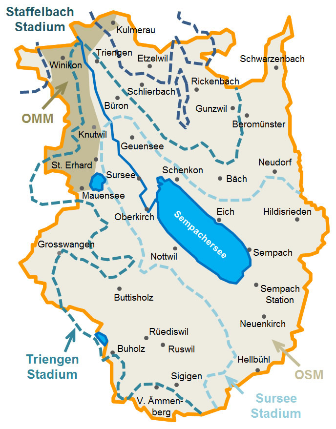Geologische Karte vom Wahlkreis Sursee