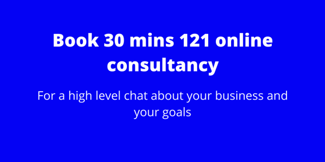 30 mins 121 online consultancy