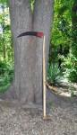 Austrian scythes have a straight snath