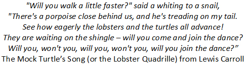 "Alice in Wonderland"" Lobster Quadrille"