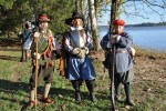 Re-enactors who struggled to sound English
