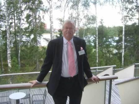 Roger at the Olkiluoto Nuclear Plant in 2007