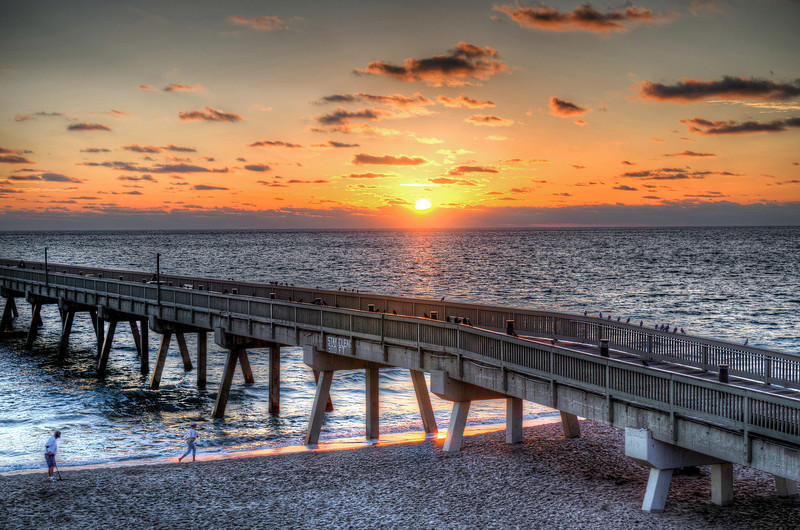 Image of Sunrise off the Deerfield Beach Pier