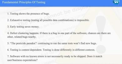 Fundamental Principles Of Testing - ISTQB