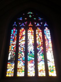"""Knight's Window - to honour the work of the Knights & Dames of the Holy Sepulchre"" (visitor's guide)"