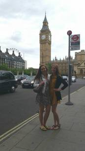 """with Julianna (cousin, interning in London) """"I appreciate that you don't mind doing the touristy things."""" :)"""