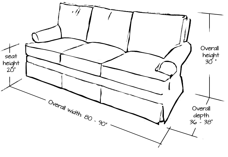 Standard Sofa Size Inches Okaycreations Net