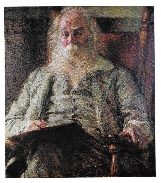 portait of Walt Whitman by Herbert Gilchrist