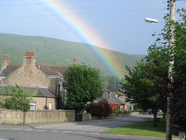 Patrice photo of rainbow, Ballater, Scotland