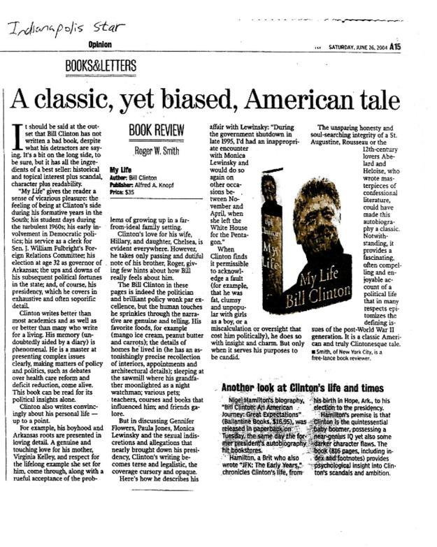 Roger Smith review of Bill Clinton autobio.jpg