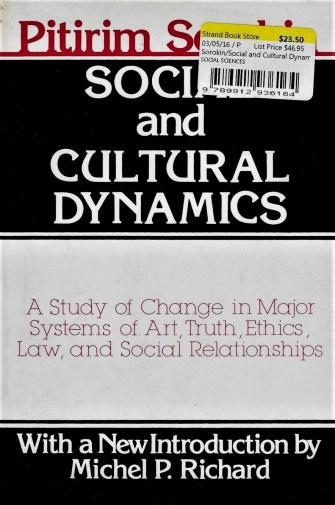 """Social and Cultural Dynamics"" - abridged edition (Transaction Books, 1985)"