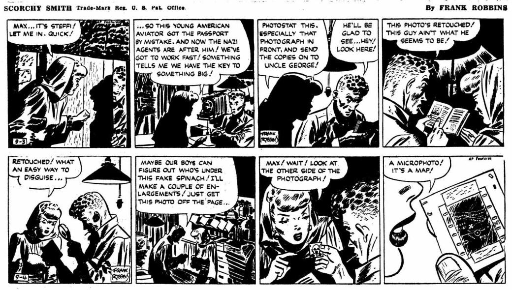 Frank Robbins var tecknare av Scorchy Smith innan han skapade Johnny Hazard