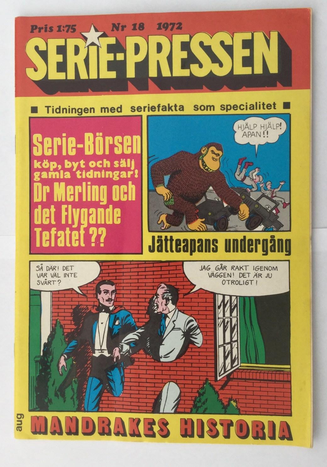 Serie-Pressen nr 18, 1972 i serietidningsformat