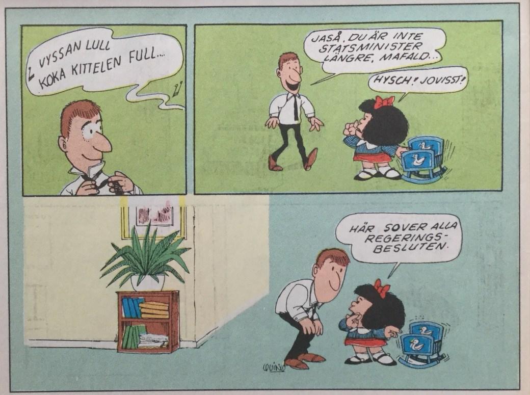 Mafalda ur SeriePressen nr 1, 1993, av Joaquin Salvador Lavado