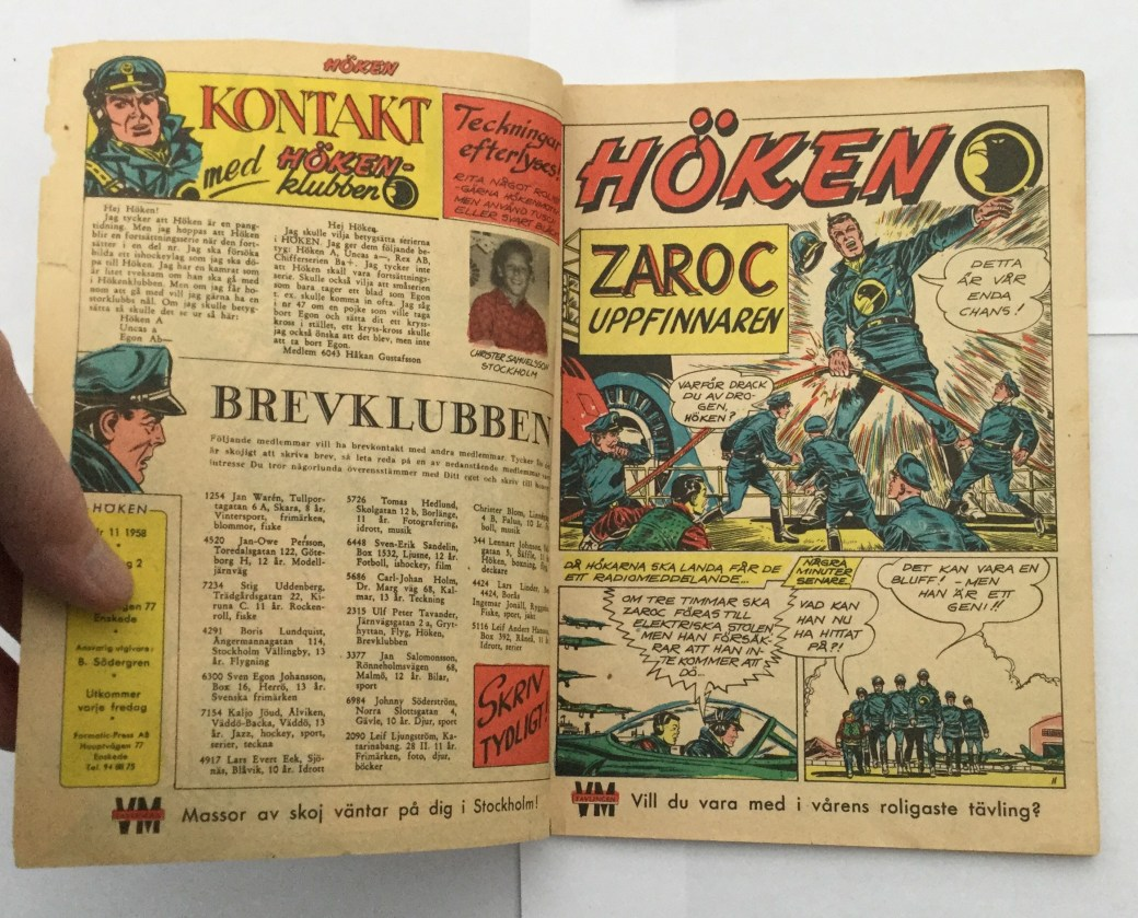 Ett Höken-avsnitt, ur Höken nr 11, 1958